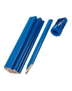 Crayon de Menuisier x12 + Taille Crayon