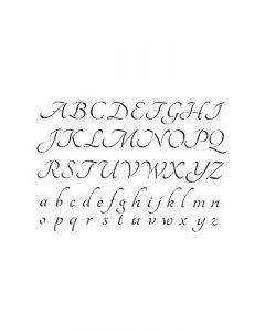 Pochoir Lettre Artemio : Alphabet