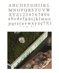 Pochoir Alphabet Déco 1