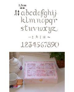 Pochoir Alphabet Minuscules