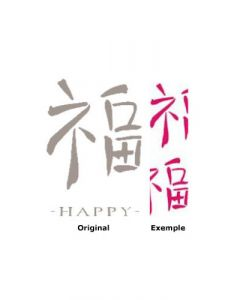 Pochoir Alphabet Happy