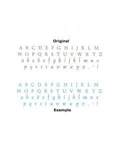 Pochoir Alphabet Elegant