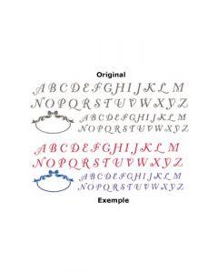 Pochoir Alphabet Romantique