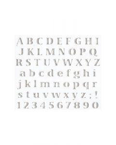 Pochoir Alphabet Echo