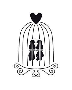 Pochoir Animal : Cage à Oiseaux Artemio