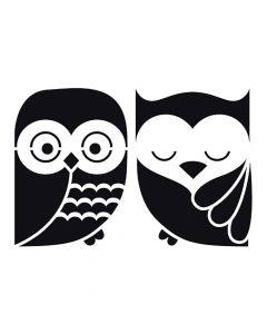 Pochoir Animal : Hibou & Chouette Artemio