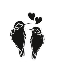 Pochoir Animal : Couple de Colibris Artemio