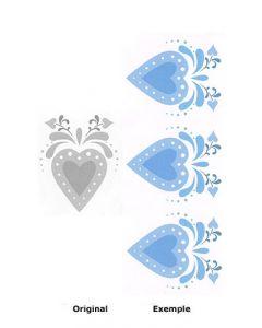 Pochoir Déco : Coeurs