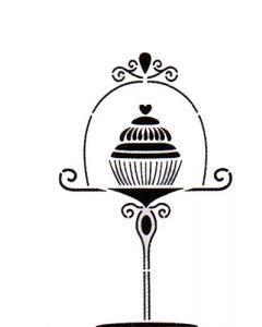 "Pochoir Déco "" Cupcake "" Artemio"