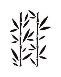 Pochoir Feuille Artemio : Bambou