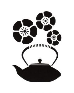 Pochoir Déco Artemio : Théière & Fleurs