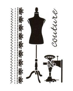 Pochoir Déco : Couture