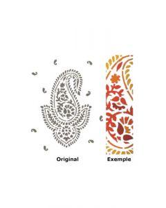 Pochoir Déco : Fleur Kashmir