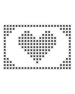 Pochoir Déco : Coeur Artemio