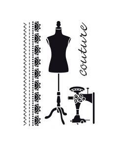 Pochoir Déco : Couture Artemio
