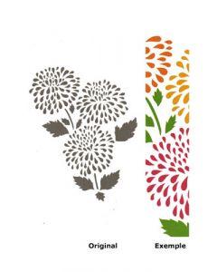 Pochoir Fleur : Chrysanthème