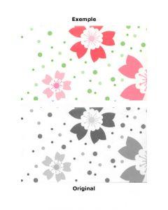 Pochoir Fleur : Rose de Noël