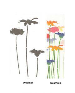 Pochoir Fleur : Fleurs des Prés