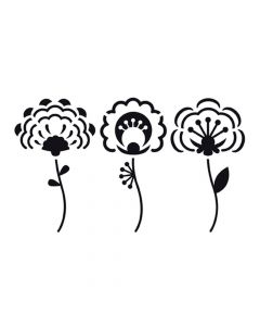 Pochoir Fleur : 3 Fleurs Artemio