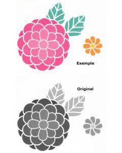 Pochoir Fleur : Pivoine