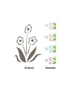 Pochoir Fleur : Marguerite