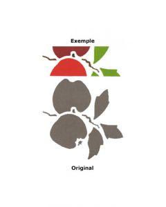 Pochoir Fruit : Pomme
