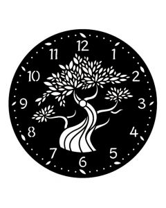 Pochoir Horloge : Arbre Artemio