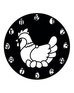 Pochoir Horloge Artemio : Poule