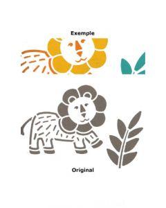 Pochoir Animal : Lion