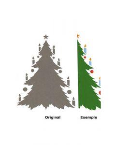 Pochoir Noël : Sapin