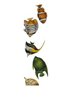Pochoir Animal 3D : Poissons Tropicaux