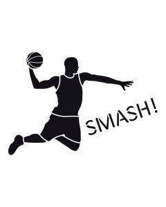 Pochoir Sport : Basketteur Artemio