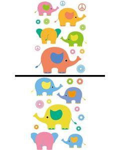 Sticker Mural Animal : Elephants
