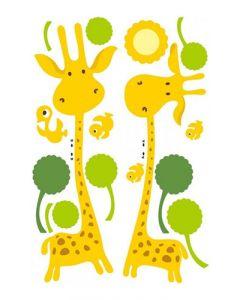Sticker Mural Animal : Girafes