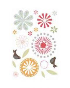 Sticker Mural Déco : Fleurs & Oiseaux