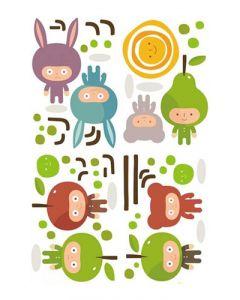 Sticker Mural Enfant : Apple Man