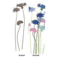 Pochoir Fleur : Bleuet