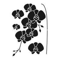 Pochoir Fleur : Orchidées Artemio