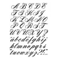 Pochoir Lettre : Alphabet Italique Artemio