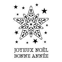 Pochoir Noël : Etoiles Artemio